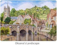 Oksanas Landscape in Pastel Pencils
