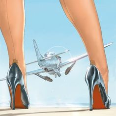 (notitle) - Pin up - Aviation Humor, Aviation Art, Pin Up Posters, Airplane Art, Nose Art, Art Graphique, Air Show, Pin Up Art, Military Art