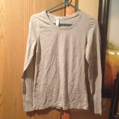 Gray shirt Gray long sleeve shirt Ambiance Apparel Tops Tees - Long Sleeve