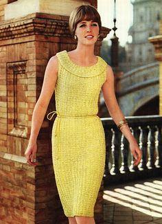 Patron de tejido crochet 60s patron pdf de tejido vestido
