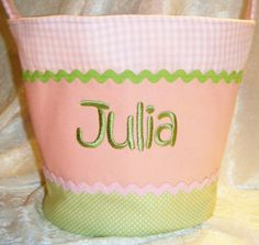 Wish list - Girls Fabric Easter Basket
