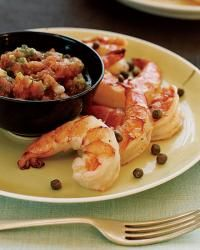 http://www.foodandwine.com/recipes/tunisian-prawns-with-kerkennaise-sauce