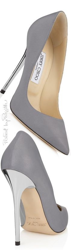 Jimmy Choo ~ grey heels 2016 - Shoes New Style - Luxury Shoes - Shoes New Style - Luxury Shoes Pretty Shoes, Beautiful Shoes, Cute Shoes, Me Too Shoes, Women's Shoes, Shoe Boots, Shoes Sneakers, Dream Shoes, Crazy Shoes