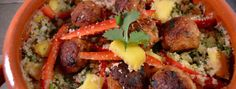 Couscous salade met mango & kipgehaktballetjes – Samen Bourgondisch