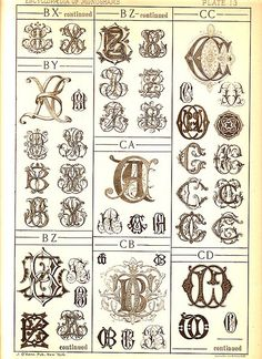 Antique Page of Monograms