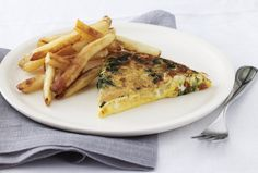 Spinach and Cheddar Frittata with Fries