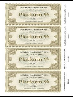 Imagine discovering a one-way travel ticket on the Hogwarts Express, inside the copy of Harry Potter that you found on the library shelves. I created these b… Imagine discovering a one-way travel ticket on the Hogwarts Express, inside the copy of Harry Potter Ticket, Harry Potter Letter, Harry Potter Journal, Cumpleaños Harry Potter, Images Harry Potter, Harry Potter Christmas Decorations, Harry Potter Halloween Party, Harry Potter Birthday, Imprimibles Harry Potter Gratis