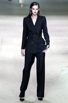 Saint Laurent Spring 2002 Couture Fashion Show - <strong>The Pantsuit</strong>