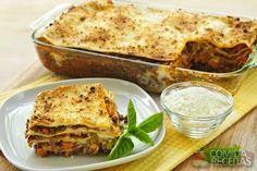 Receita de Lasanha à bolonhesa em receitas de massas, veja essa e outras receitas aqui!