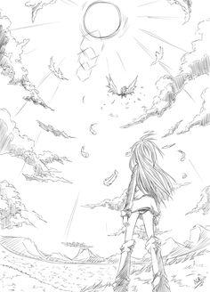 Kết quả hình ảnh cho how to draw sky anime