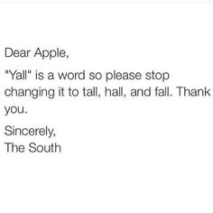 Y'all is a word! #SCLowcountry #Southernism