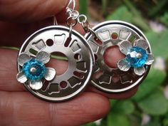 Your place to buy and sell all things handmade Coral Earrings, White Earrings, Sterling Silver Earrings, Hardware Jewelry, Hard Disk Drive, Metal Flowers, Handmade Beads, Hammered Silver, Turquoise