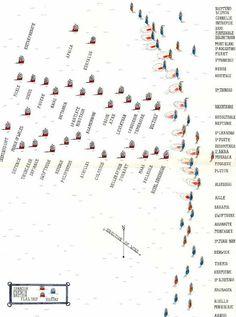 Mapa de la Batalla de Trafalgar