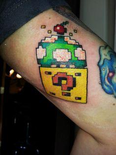 #Mario #Nintendo  #Tattoo by Birdie at Black Rabbit Tattoo Studio in Port Moody, BC Tattoo Studio, Rabbit Tattoos, Mario, Nintendo, Bunny Tattoos