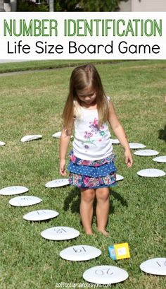 Teach Kids Number Identification and Counting with a Life Size Board Game!