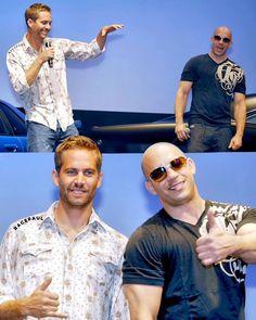 These two  #LovingPaulWalker #PaulWalker #PaulWilliamWalkerIV #TeamPW #RIPAngelWalker #ForPaul #TorettoTuesday #VinDiesel - Paul Walker  (@racepaul)