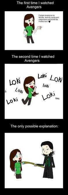 """Jajaj toda la razón, lo que yo amé a Loki desde la primera vez que vi """"The Avengers"""" ☺"""
