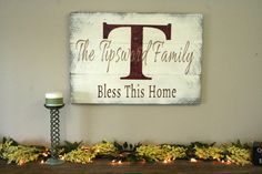 Personalized Family Name Sign Custom Family Name Sign Rustic Sign Pallet Sign Distressed Wood Shabby Chic Cottage Chic Housewarming Cream