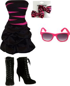 """Pink Goth:)"" by toribiersack on Polyvore"