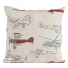 Fly-By Pillow - Airplane Print