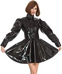 Maid Outfit, Maid Dress, Goth Glam, Vinyl Dress, Vinyl Clothing, Catsuit, Crossdressers, Dress Skirt, Punk