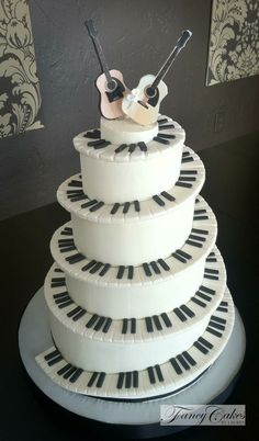 Music Theme Wedding Cakes Themed Piano