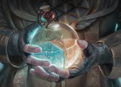 Magic Art in Focus: Alchemist's Vial by Lindsey Look, Her reference photos can't be missed