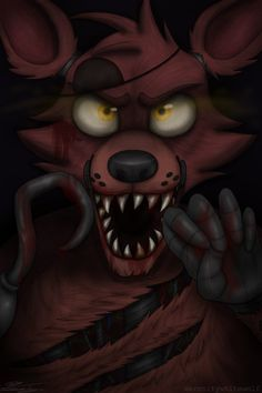 Foxy: 'It's me!' by serenitywhitewolf on deviantART