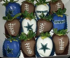 Dallas Cowboys chocolate dipped strawberries  https://m.facebook.com/tonyasberrysweettreats
