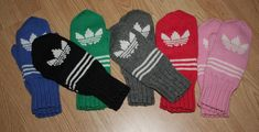 Adidaslapaset, Adidastumput Diy And Crafts, Arts And Crafts, Slipper Boots, Handicraft, Mittens, Gloves, Cross Stitch, Socks, Adidas