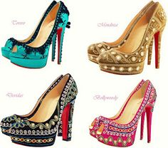 Brilliant India, Bollywood inspired Shoes. But I love the Turquoise pumps