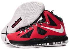 official photos 289da 839f4 Nike LeBron 10  amp  LeBron X Men s Basketball Shoe 598360 600 Red Black  Lebron