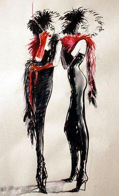 Cruella De Vil theme photo and artwork | The Drawing Club