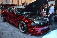 Mustang - Red Chrome Custom Job - Beautiful!  I have learned this was done by Creations in Chrome.