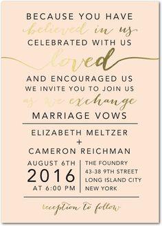 Elegant Exchange - Signature Foil Wedding Invitations