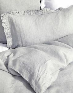 Wyoming Blue Linen Bedding | Gracious Style