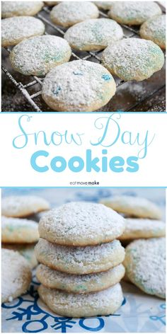 Snow day cookies are so much fun to make with the kids in a blizzard or on a cold day, so when the winter weather keeps you indoors, bring the kids into the kitchen for some winter recipes and sugar cookie fun! Best Dessert Recipes, Healthy Desserts, Fun Desserts, Cookie Recipes, Baking Recipes, Vegan Recipes, Winter Desserts, Winter Dinner Recipes, Healthy Winter Recipes