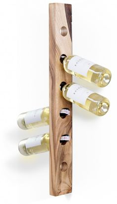 Wooden wine rack. Contains six bottles of wine. Made of one piece of walnut wood.  for polish orders: www.tulas.pl  for international orders: https://www.etsy.com/listing/242885729/wooden-wine-rack-model-a-walnut?ref=shop_home_active_6