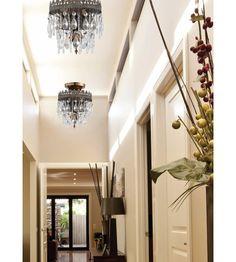 Crystorama Alhambra 2 Light Semi-Flush Mount in Fiesta, Hand Cut 1590-FA #LightingNewYork