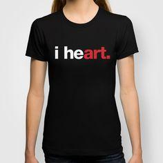 i heart (black) Women's T-shirt by WORDS BRAND™ | Society6