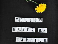 yellow makes me happier