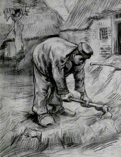 Peasant, Chopping 1885 | Vincent van Gogh