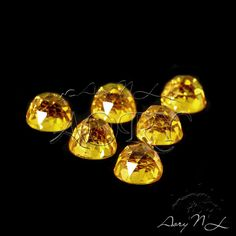 1pcs AAAAA 6mm Bright Yellow Cubic Zirconia Rose Cut by AoryNL
