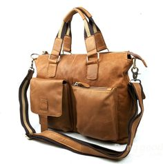Genuine Leather Men Bag Shoulder Bags Men's Briefcase Messenger Bags - US$60.29