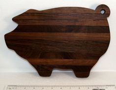 Pig Shaped Cutting Board Made Of Walnut