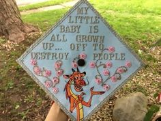 Thought you all might like to see my Mulan themed graduation cap for this Saturday. I'll be graduating with a Major in Psychology and minors in Interpersonal Relations Psych of Human Development,. Disney Graduation Cap, Funny Graduation Caps, Graduation Cap Designs, Graduation Cap Decoration, Graduation Diy, Grad Cap, High School Graduation, Graduation Pictures, Graduation Photoshoot