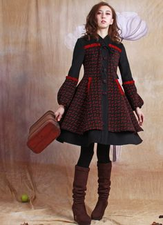 cashmere  dress cashmere jacket wool dress wool  coat with latern sleeves