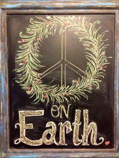 Peace On Earth chalkboard