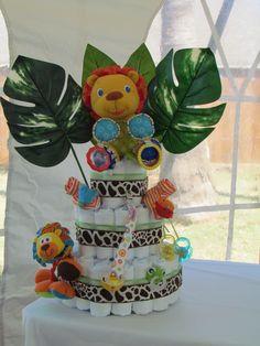 jungle lion diaper cake!