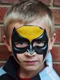 Face Paint Mask Superman Google Search Face Painting And Costume
